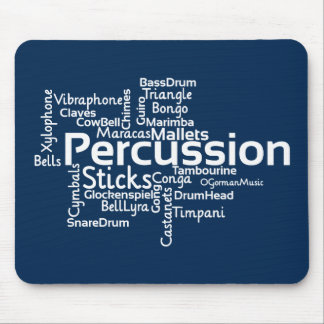 Percussion Word Cloud Mouse Pads
