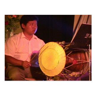 Percussionist chino postales