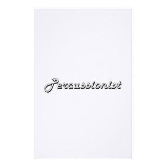 Percussionist Classic Job Design Stationery