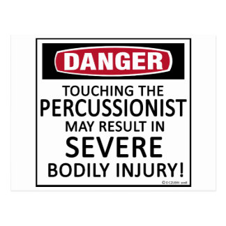 Percussionist del peligro tarjetas postales