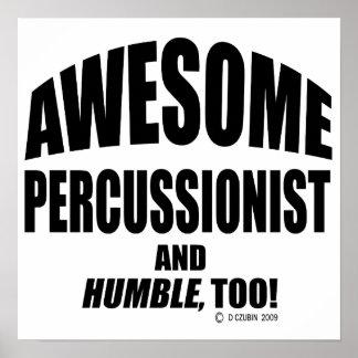 Percussionist impresionante impresiones