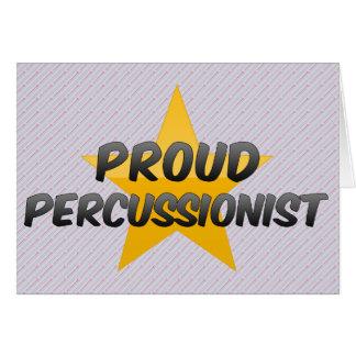 Percussionist orgulloso felicitación