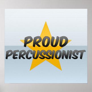 Percussionist orgulloso posters