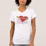 Percussionists - latido del corazón de la camiseta