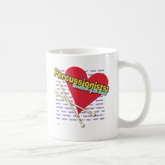 Percussionists - latido del corazón de la taza de