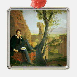 Percy Bysshe Shelley  1845 Metal Ornament