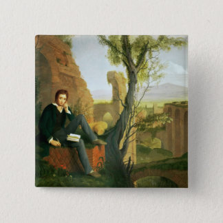 Percy Bysshe Shelley  1845 Pinback Button