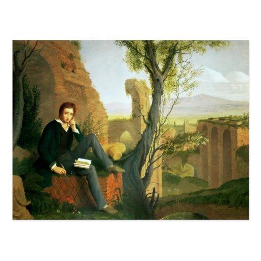 Percy Bysshe Shelley 1845 Postales