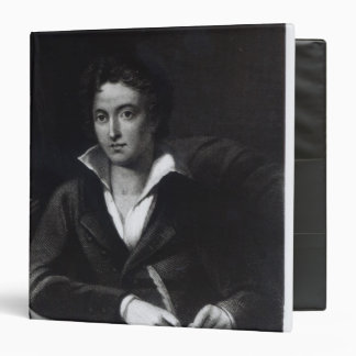 Percy Bysshe Shelley, engraved by William Holl 3 Ring Binder