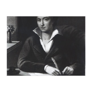 Percy Bysshe Shelley, engraved by William Holl Canvas Print