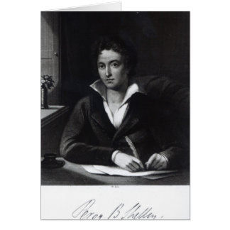 Percy Bysshe Shelley, engraved by William Holl Card