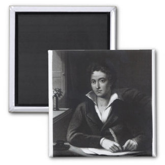 Percy Bysshe Shelley, engraved by William Holl Refrigerator Magnets