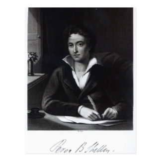 Percy Bysshe Shelley, engraved by William Holl Postcards