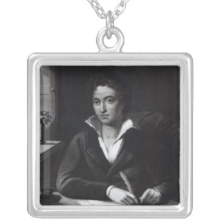 Percy Bysshe Shelley, grabado por Guillermo Holl Collar Plateado
