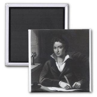 Percy Bysshe Shelley, grabado por Guillermo Holl Imán Cuadrado