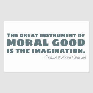 Percy Bysshe Shelley | Moral Good, Imagination Sticker