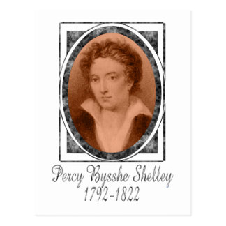 Percy Bysshe Shelley Postcard