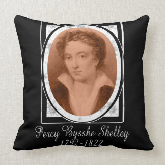 Percy Bysshe Shelley Throw Pillow