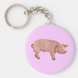 Percy el cerdo llavero redondo tipo pin