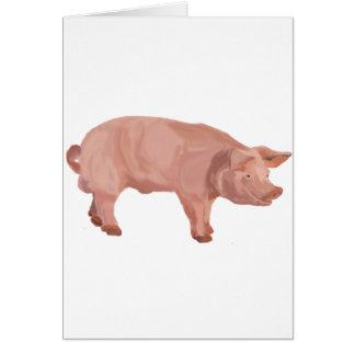 Percy el cerdo tarjeta de felicitación