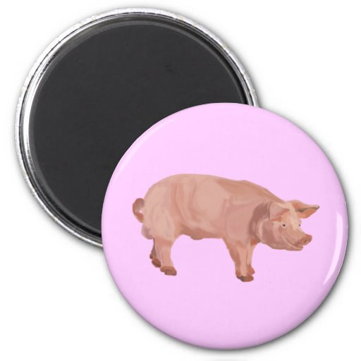 Percy the Pig 2 Inch Round Magnet