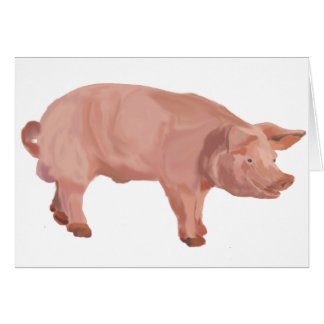 Percy the Pig Greeting Card