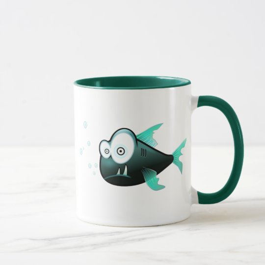 Percy the Piranha Fish Mug