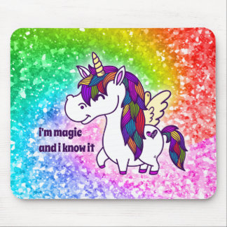 Percy the Polished Unicorn Mouse Pad