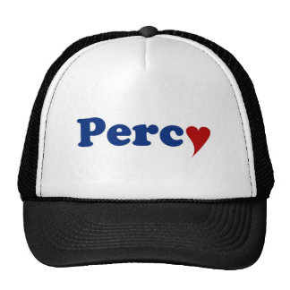 Percy with Heart Trucker Hat