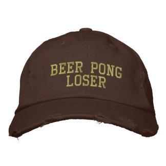 Perdedor de Pong de la cerveza Gorras De Béisbol Bordadas
