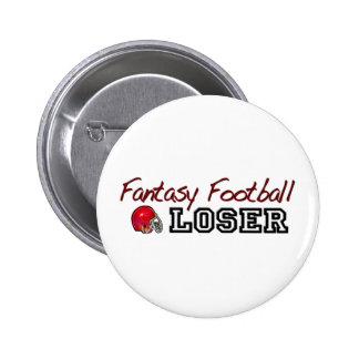 Perdedor del fútbol de la fantasía pin