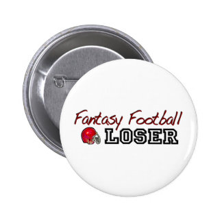 Perdedor del fútbol de la fantasía pin redondo de 2 pulgadas