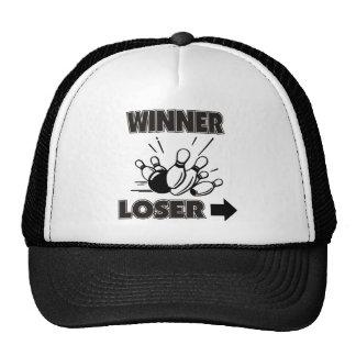 Perdedor divertido del ganador de los bolos gorra