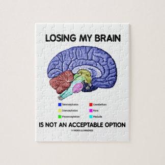 Perder mi cerebro no es una opción aceptable puzzle