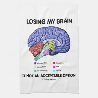 Perder mi cerebro no es una opción aceptable toallas