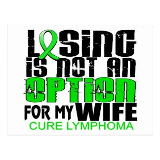 Perder no a la esposa del linfoma de la opción postal