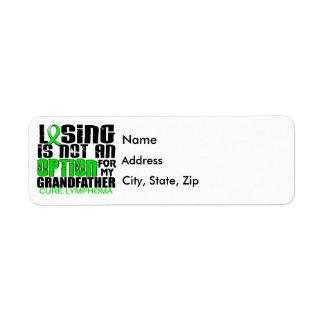 Perder no al abuelo del linfoma de la opción etiqueta de remitente