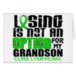 Perder no al nieto del linfoma de la opción felicitaciones
