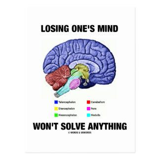 Perder su mente no solucionará cualquier cosa el tarjetas postales
