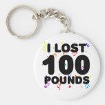 Perdí 100 libras de fiesta llavero personalizado