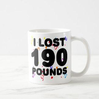 Perdí 190 libras de fiesta tazas