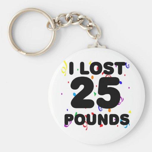 Perdí 25 libras de fiesta llavero personalizado