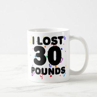 Perdí 30 libras de fiesta tazas de café