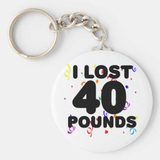 Perdí 40 libras de fiesta llaveros