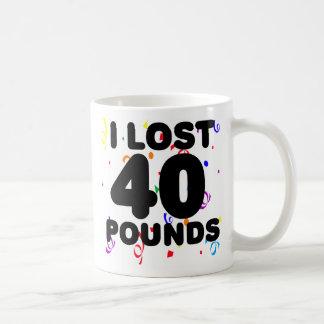 Perdí 40 libras de fiesta taza de café