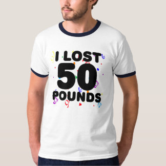 Perdí 50 libras de fiesta remera