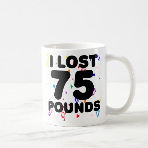 Perdí 75 libras de fiesta taza