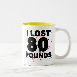Perdí 80 libras de fiesta taza