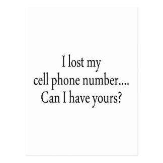 Perdí mi número del teléfono celular puedo yo tene tarjetas postales