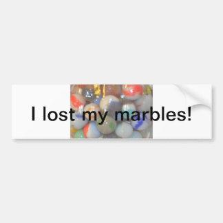 Perdí mis productos de los mármoles pegatina para auto